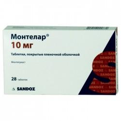 Монтелар, табл. п/о пленочной 10 мг №28
